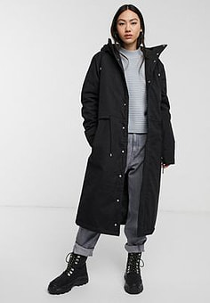 Dr Denim Kim Parka in black