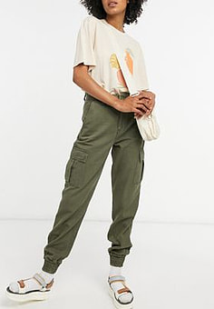 Dr Denim Rugby cargo trousers in green
