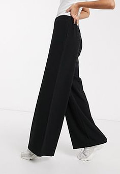 Dr Denim wide leg trouser-Black