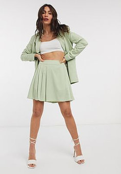 Fashion Union tailored skirt co-ord-Green