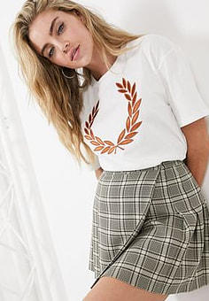 Fred Perry laurel wreath logo t-shirt in white