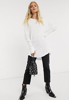 Free People arden tee-White