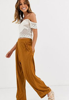 Free People Breezin By relaxed trouser-Gold
