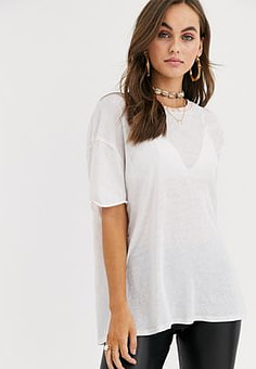 Free People Clarity ringer t-shirt-Pink