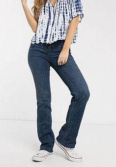Free People eva lace up bootcut jeans-Blue