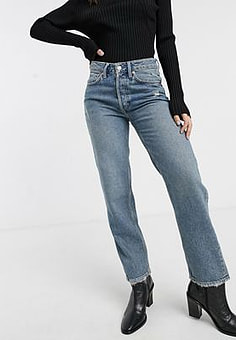 Free People Fast Times classic mom jeans-Blue