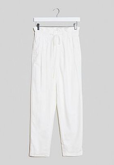 Free People margate pleated trouser in white