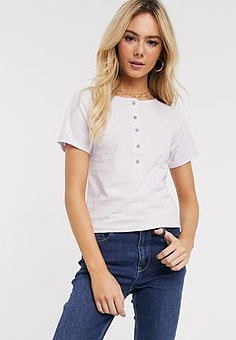 Free People what's up henley in pink-Purple