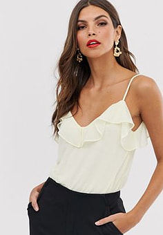French Connection Adanna ruffle cami top-Yellow
