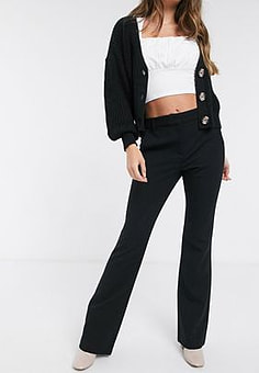 French Connection flare trouser in black