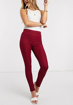 French Connection kara twill skinny trousers-Red