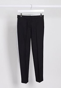 French Connection skinny tailored trousers in black