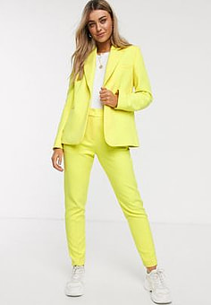 French Connection tailored blazer in lemon tonic-Yellow