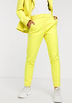 French Connection tailored trouser in lemon tonic-Yellow