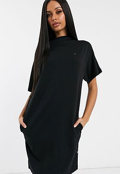 G-Star high neck dress with shoulder panel-Black
