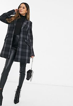 G-Star minor wool check coat-Black