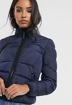 G-Star strett quilted jacket-Blue