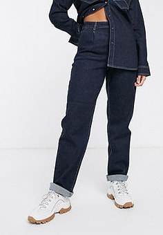 Gestuz Elenor straight cut chino style jeans co-ord-Navy