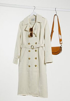 Gestuz trench coat in cream