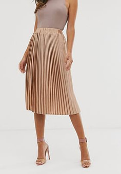 Girl In Mind pleated midi skirt-Pink