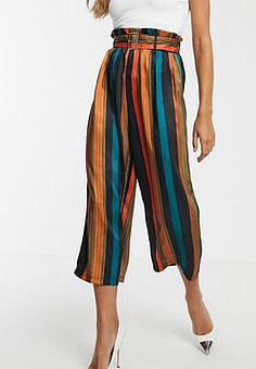 Girl In Mind stripe culotte trouser-Multi