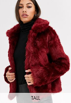 Glamorous faux fur jacket-Orange