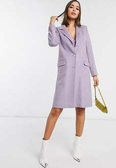Helene Berman tailored coat in lilac-Purple