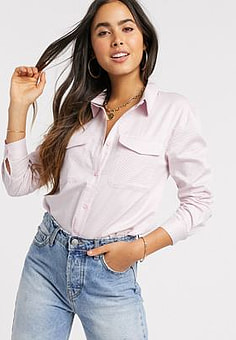 Ichi textured blouse-Pink