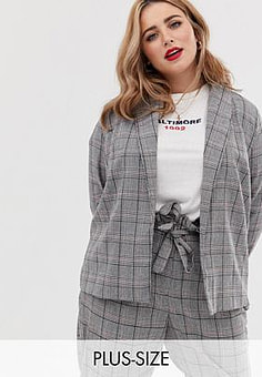 Koko check suit blazer-Multi