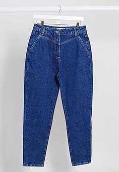 Lacoste front panel detail mom jeans in blue
