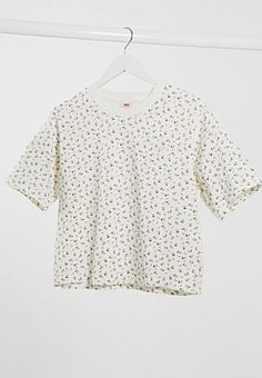 Levi's Levi boxy tee in floral print-White