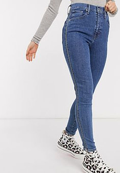 Levi's Levis mile high ankle zippers in your dreams-Blue