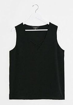 Lipsy cross front top-Black