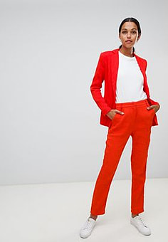 Liquorish slim leg trousers-Red