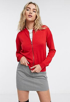 Love Moschino logo back bomber jacket in red