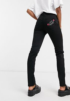 Love Moschino push up fit skinny jeans in black