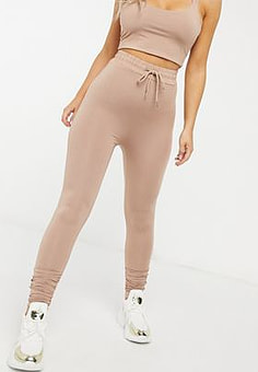 Love & Other Things high waisted leggings in camel-Brown