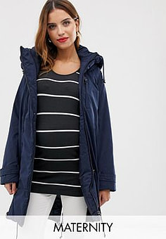 Mama.licious Mamalicious 2-in-1 padded coat with zip out panel-Navy