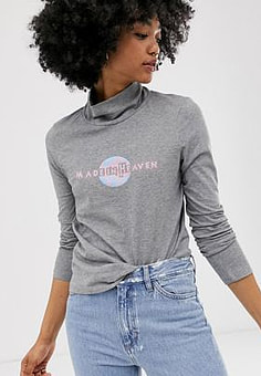 MiH Jeans heaven polo top-Grey
