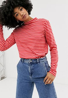 MiH Jeans stripe long sleeve top-Blue