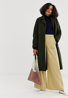 Minimum belted wool coat-Green
