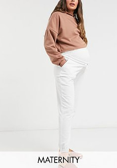 Missguided 90s jogger in white