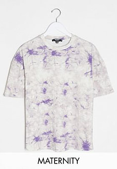 Missguided co-ord tie dye t-shirt-Purple