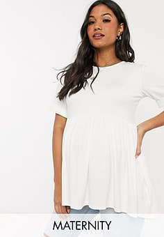 Missguided smock top in white