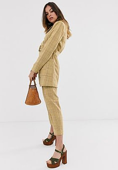Moon River check trousers-Yellow