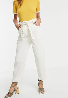 Moon River cord utility trousers-Cream