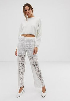 Minimum Moves By lace trousers-White