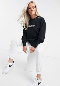 Napapijri Box long sleeve t-shirt in black