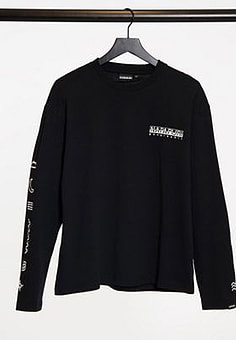 Napapijri Pasilan long sleeve t-shirt in black