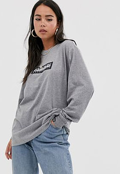 Napapijri Sox long sleeve top in grey